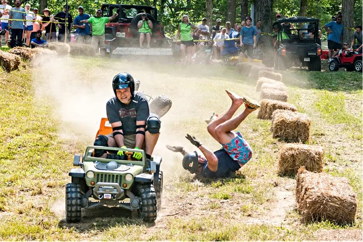 Barbie Jeep races at the Loretta Lynn Ranch during 2020 TrailJam.