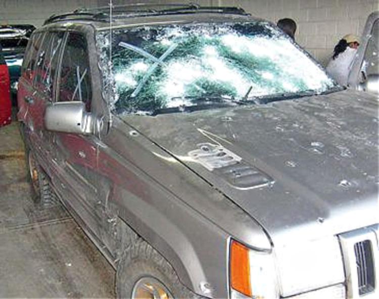 sicario gunfight destroyed vehicle