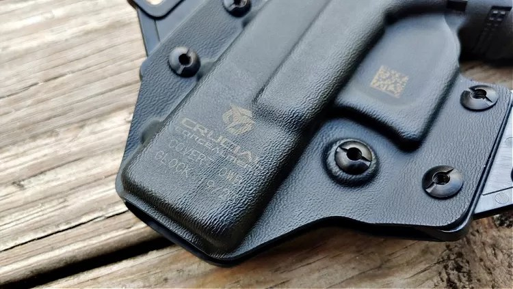 The Covert OWB is versatile and allows you to carry an optics-enhanced Glock 19, to adjust the cant, and to adjust the holster's passive retention.