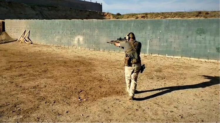 FN Scar 17S at the range