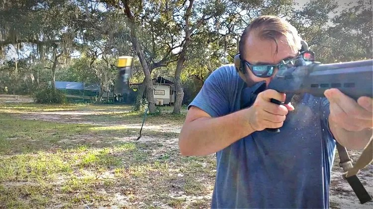 Travis Pike shooting Hornady Black.