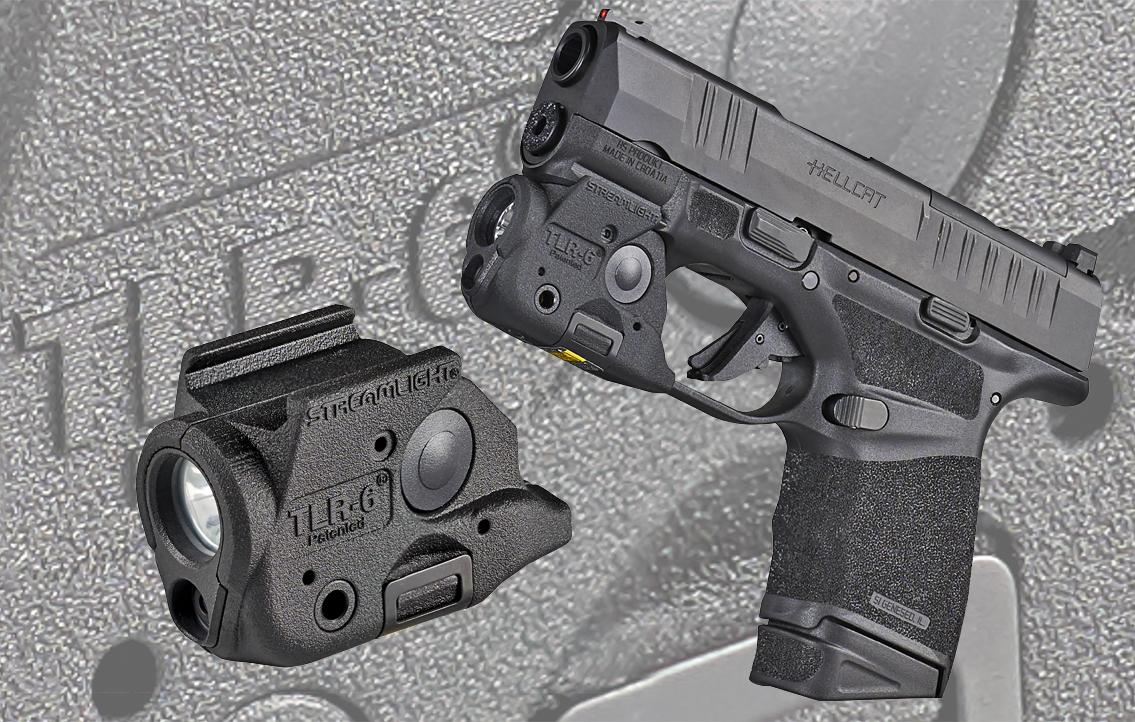 Streamlight micro weapon light mounted to Springfield Hellcat