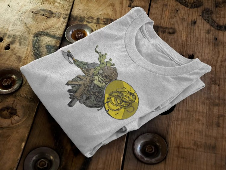 Modern Viking on an Anachrobellum shirt