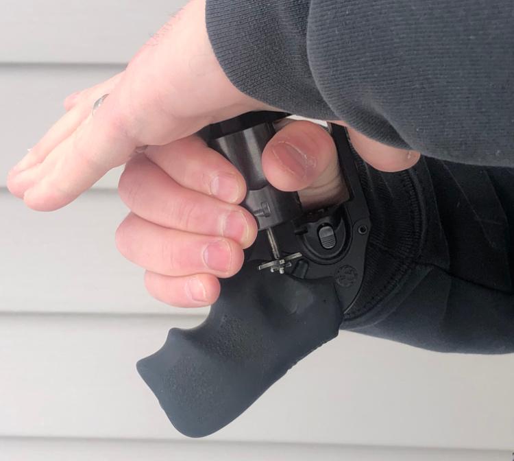 left hand reloading snub nose revolver