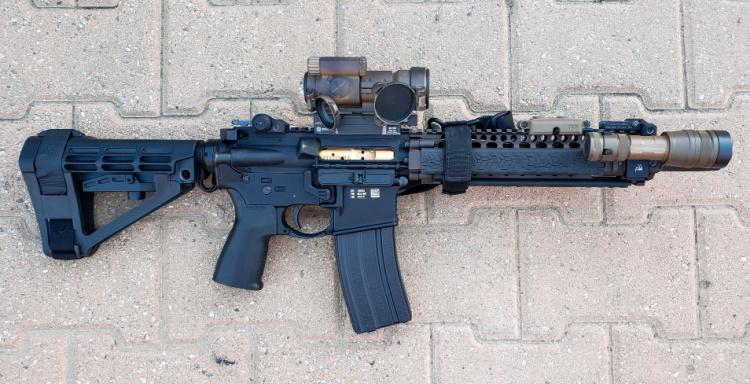MK 18 build, side profile.