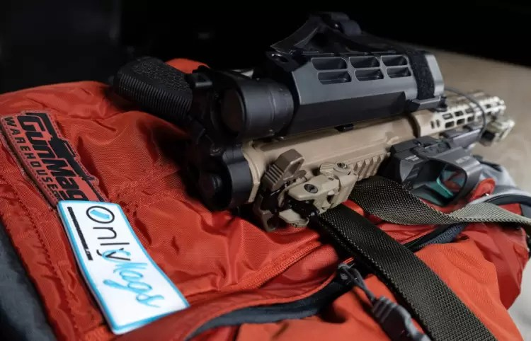 Aero Precision 300 Black Out pistol with Law Tactical Folder