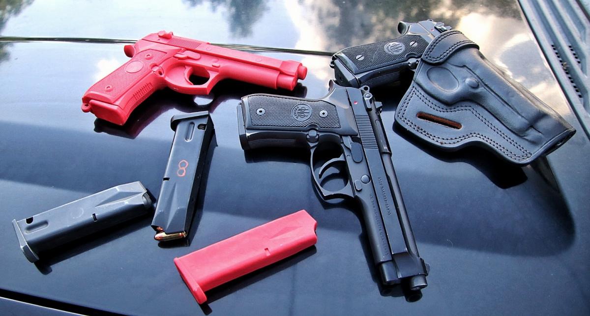 Beretta M9 ASP red gun