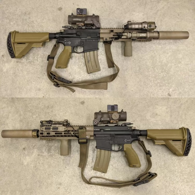 Authors HK416 with ElcanDR LPVO mounted.