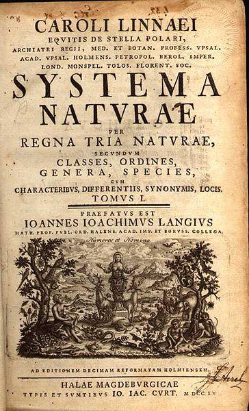 Systema-Naturae-Linnaeus