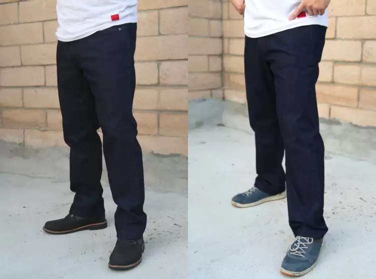 5.11 flex jeans with boots and shoes.