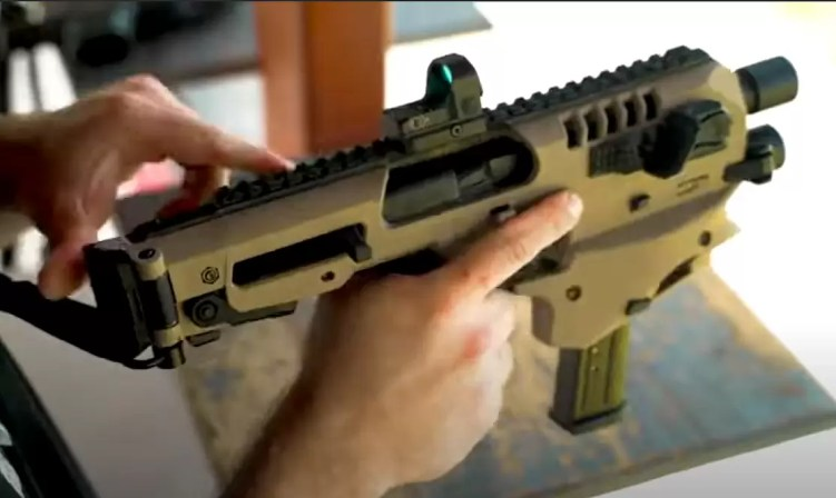 Converting a pistol to PDW with MCK TAC step 3