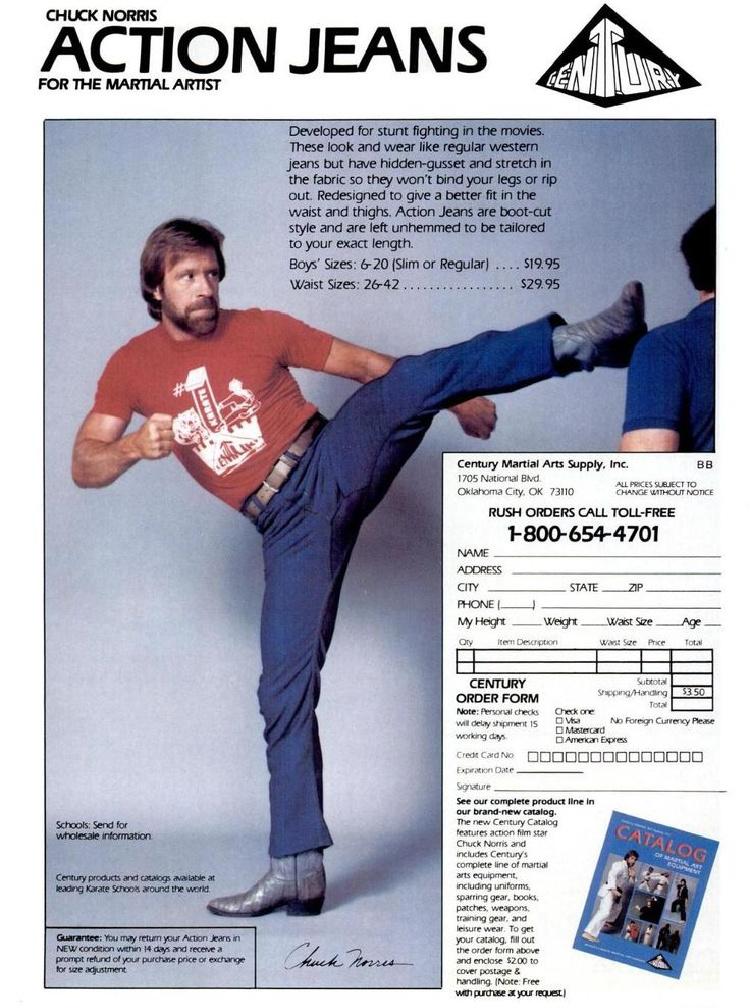 Chuck Norris Century Martial Arts Action Jeans