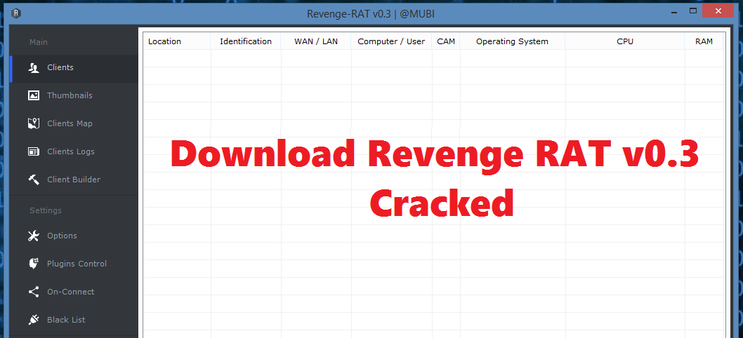 Download Revenge RAT v0.3 Cracked – Hacking Tools