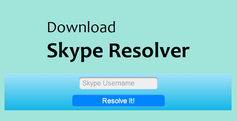 Download Skype Resolver