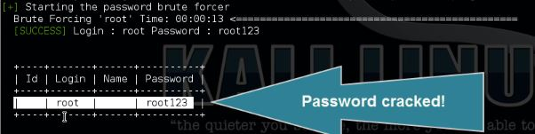 WPscan hacks root password