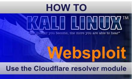 Websploit Cloudflare Resolver Tutorial