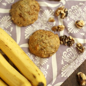 banana and walnut cookies
