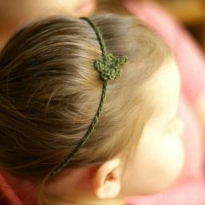 crochet clover headband