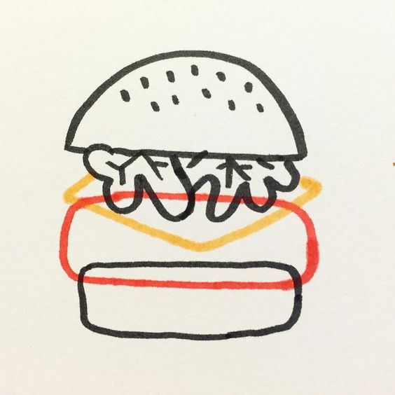hamburger illustration