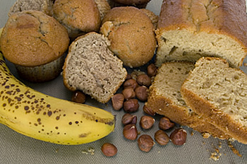 banana bread and muffins