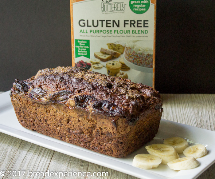 Gluten Free Banana Bread made with Butterfly Gluten Free All Purpose Flour Blend