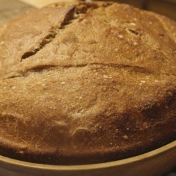 Mixed-Flour Miche with high extraction flour