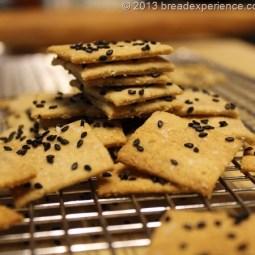 Sourdough Einkorn and Barley Crackers