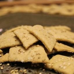 Sourdough Spelt and Millet Crackers
