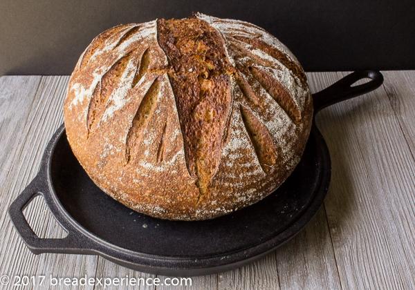 Sweet Potato Einkorn Sourdough Stout Bread with Oats