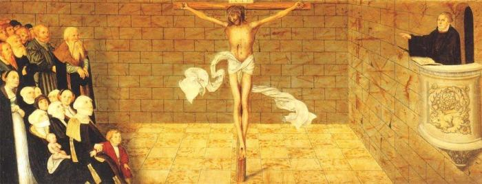 Luther Christ Bleeding for You