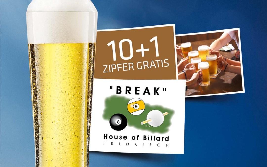 Zipfer Bier für unsere Stammgäste