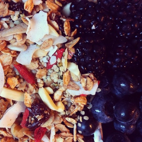 superfood granola with berries