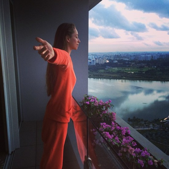 Tara Stiles in Singapore
