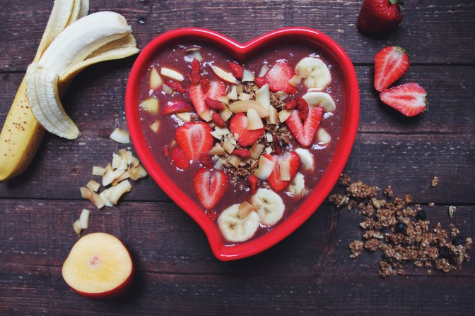 Strawberry Nectarine Acai Bowl