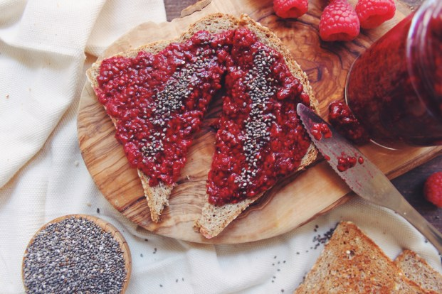 Raspberry Vanilla Chia Seed Jam | Breakfast Criminals