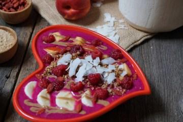 Raspberry Nectarine Pitaya Bowl | Breakfast Criminals 2