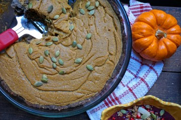 Gluten Free Superfood Creamy Pumpkin Pie From Scratch | Breakfast Criminals