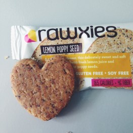 Rawxies Lemon Poppy seed heart cookies