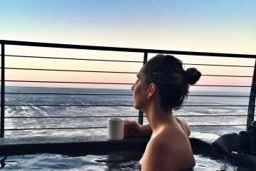 Soaking at Esalen baths in Big Sur
