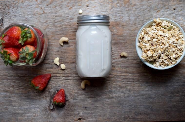 Breakfast Criminals cereal with homemade nut milk