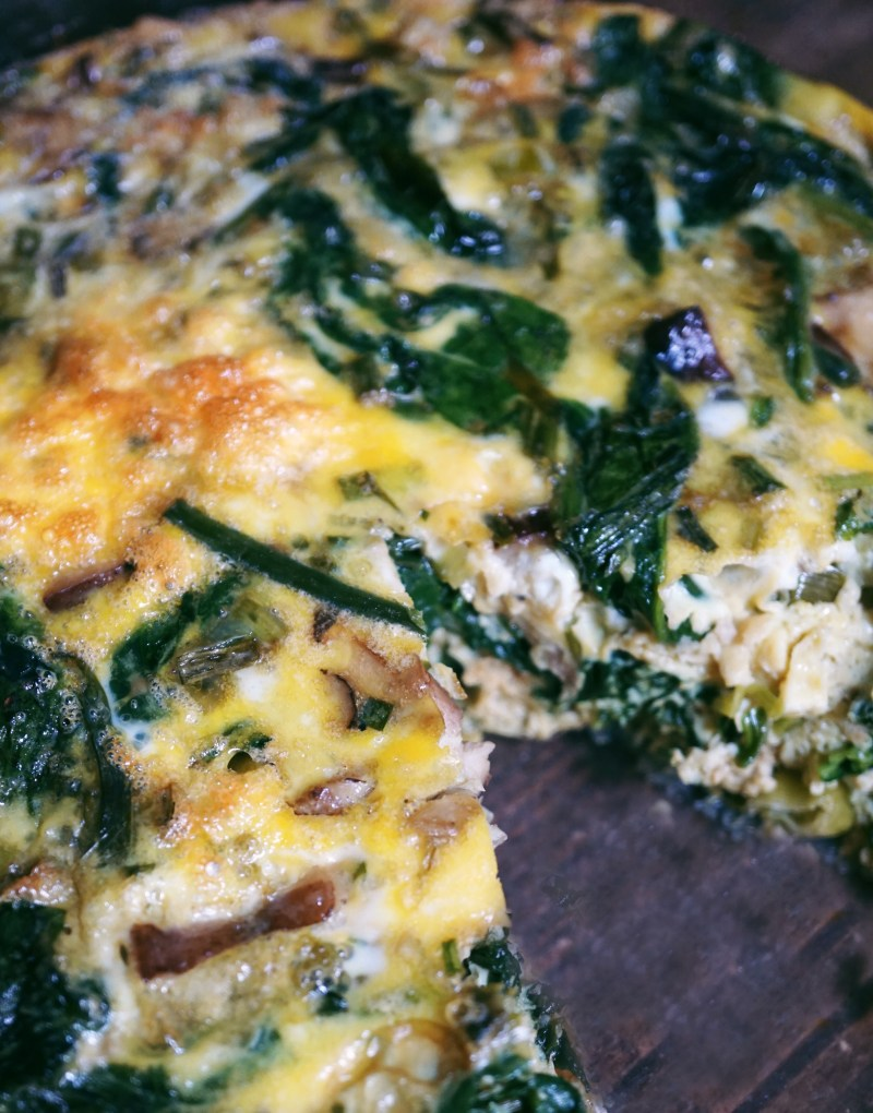 Spring Vegetable and Mushroom Fritatta Recipe