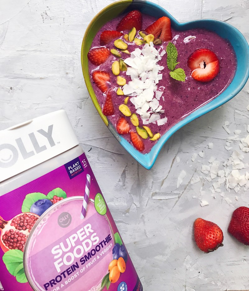 Berry Coconut Protein Smoothie Bowl Recipe