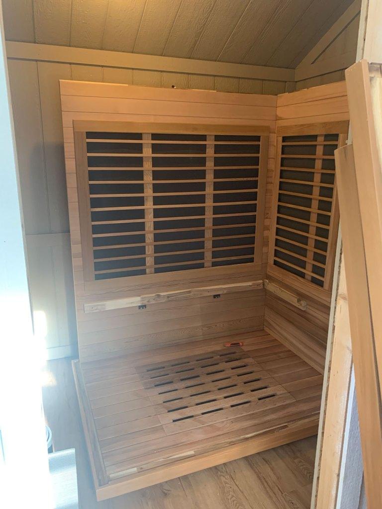 Infrared sauna installation