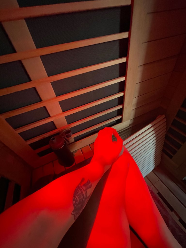 At home cedar infrared sauna by Sunlighten