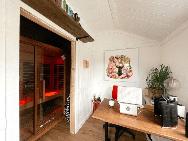 At home cedar infrared sauna
