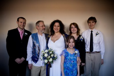 Our combined family - with only Keith absent