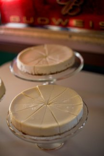 ...as was our choice of cheesecake as a wedding cake.