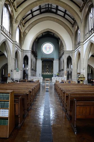 The interior of St. Margaret's Church, Eastney, Portsmouth