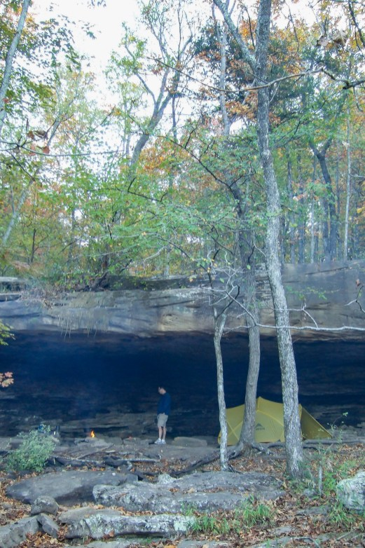 Campsite near Hawksbill Crag, Arkansas - What a superb spot this is. Copyright © 2011 Gary Allman, all rights reserved.