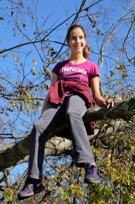Lanie - up a tree. Copyright © 2012 Gary Allman, all rights reserved.